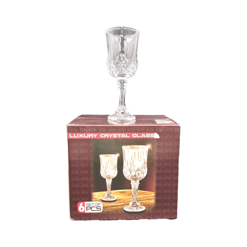 Verre Cristal  transparent (6pcs)