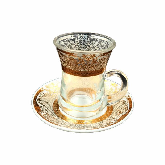 tasse et sous tasse doré