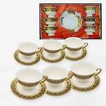 Set 6 tasses avec soucoupes Majesty